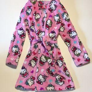 Hello Kitty Plush Fleece Girls Bathrobe